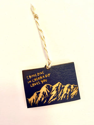 Navy Someone in Colorado Loves You Ornament by SnowMade