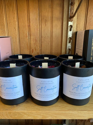 Black Tourmaline Soft Connection Candle by Cultivating Luminescence