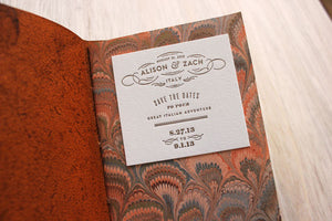 Italian Leather Passport Save the Date