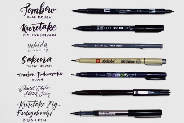 Don't Forget to Brush Pen Sampler
