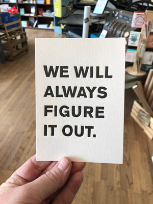 We Will Always Figure It Out Postcard Program