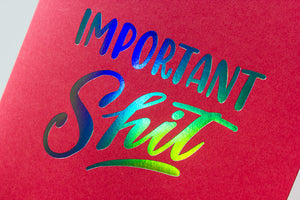"Mini Pocket Folder: ""Important Shit"""