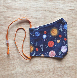 Kids Cotton Mask Galaxy by So Gingerly