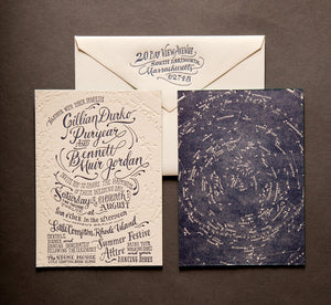 Celestial Star Chart Invitation