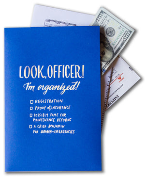 "Mini Pocket Folder: ""Look, Officer!"""
