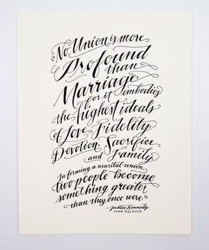 Marriage Equality Letterpress Print