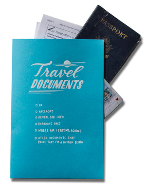 "Mini Pocket Folder: ""Travel Documents"""