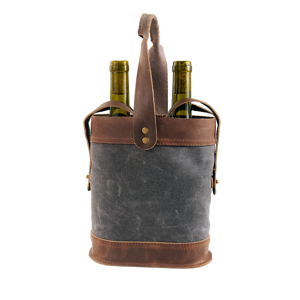 Grey NAPA DOUBLE WINE TOTE