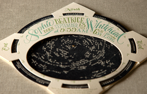 Star Chart Planisphere Birth Announcement