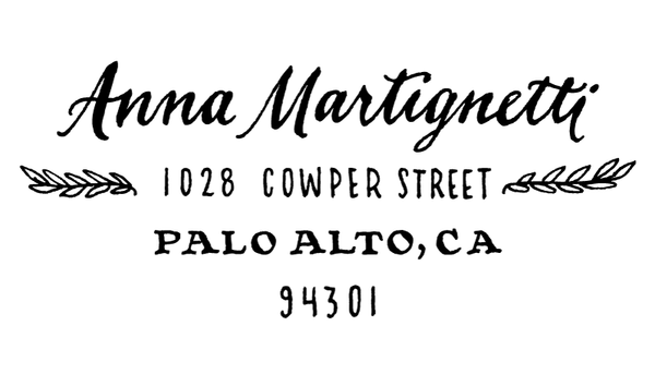 Olive Address Return Address Rubber Stamp
