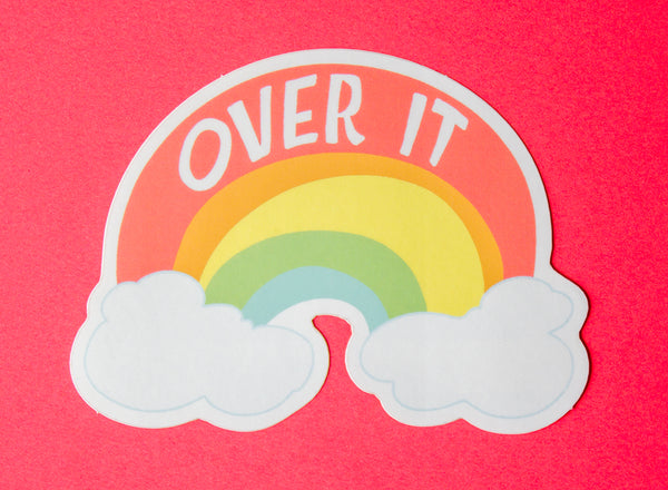 Over It Sticker
