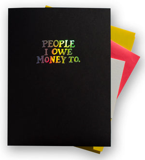 "Pocket Folder: ""People I Owe Money To"""