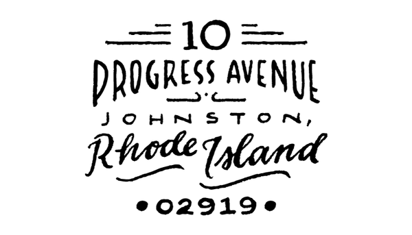 Progress Return Address Rubber Stamp