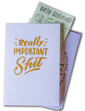 "Mini Pocket Folder: ""Really Important Shit"""