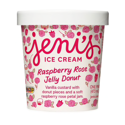 JENI'S RASPBERRY ROSE JELLY DONUT PINT