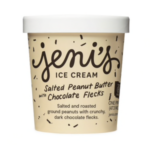 JENI'S SALTED PEANUT BUTTER WITH CHOCOLATE FLECKS PINT - GF
