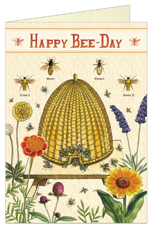 Happy Bee-Day Card by Cavallini