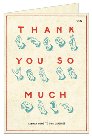Thank You Sign Language Greeting Card by Cavallini