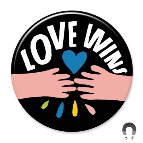 Love Wins Hands Magnet