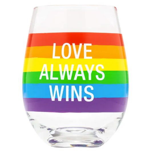 Love Always Wine Glass
