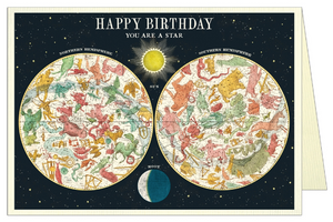 Happy Birthday Constellation Greeting Card