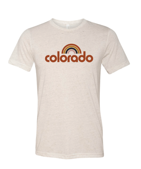 COLORADO RETRO RAINBOW TEE by Acme Local