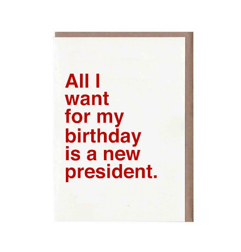 All I Want For My Birthday Is A New President by Sad Shop