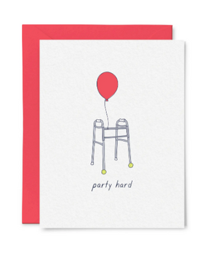 Party Hard Birthday Card by Little Goat Paper