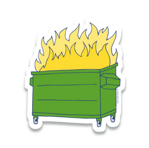 Dumpster Fire Sticker by Little Goat Paper