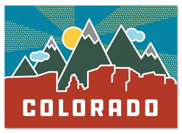 Postcard - Colorado Mountains by The Found