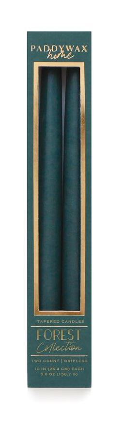 "TAPER 10"" FOREST TALL BOXED CANDLE 2/PACK"