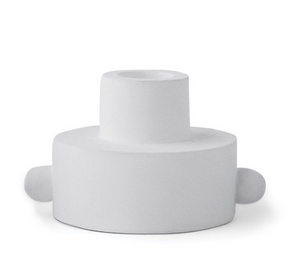 WHITE DUAL-FUNCTION TAPER + TEA LIGHT HOLDER