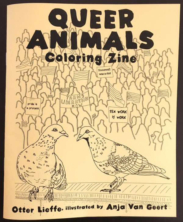 Queer Animals Coloring Zine by Otter Lieffe and Anja Geert