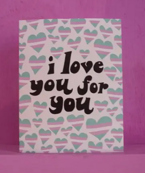 I Love You Trans Card by Ash + Chess