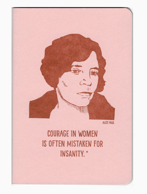 Alice Paul notebook by Blackbird Letterpress