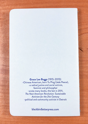 Grace Lee Boggs notebook by Blackbird Letterpress