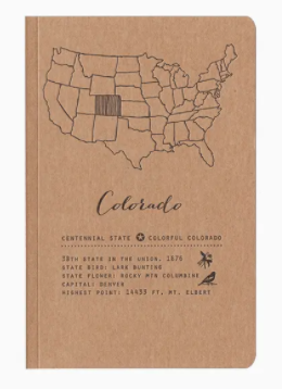 Colorado State Large Notebooks by Blackbird Letterpress