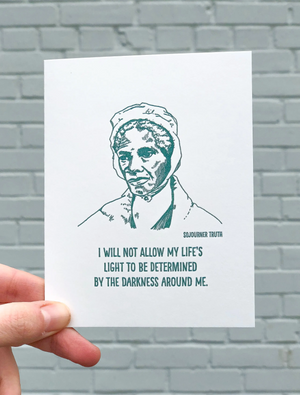 Sojourner Truth card by Blackbird Letterpress