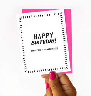 Gluten-Free Birthday Card by Nicole Marie Paperie
