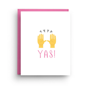 YAS! Congrats Card by Nicole Marie Paperie
