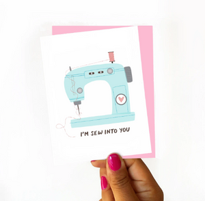 I'm Sew Into You Card by Nicole Marie Paperie