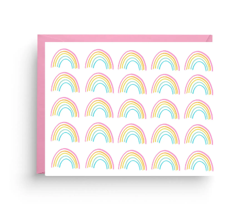 Rainbow Stationery Card by Nicole Marie Paperie