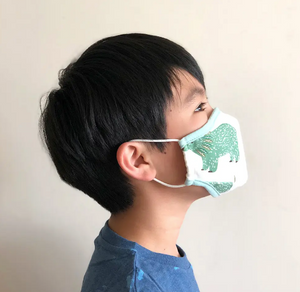Kid's Cotton Face Mask with filter pocket - Forest (Size small, Ages 2-5 years)