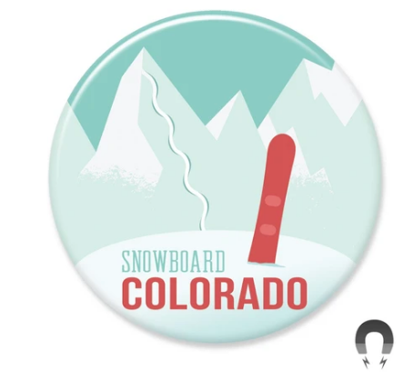 Snowboard Colorado Big Magnet