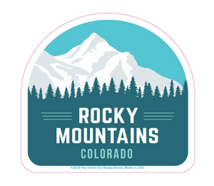 Rocky Mountains Colorado Big Sticker