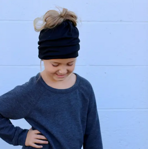 Charcoal Children's Size Beanie/Mask by Pretty Simple
