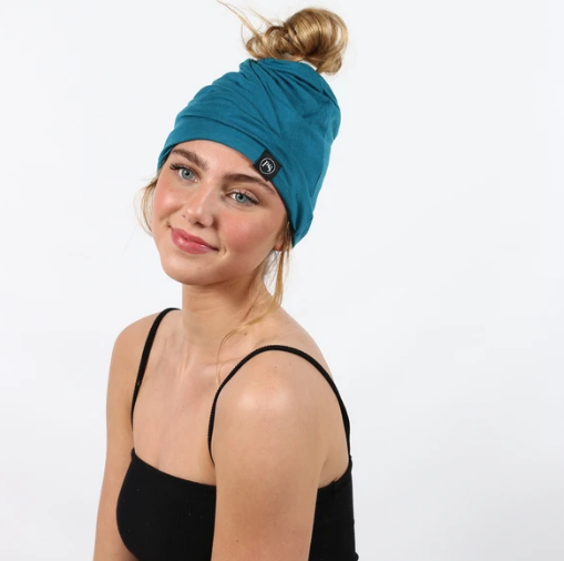Turquoise Beanie/Mask by Pretty Simple