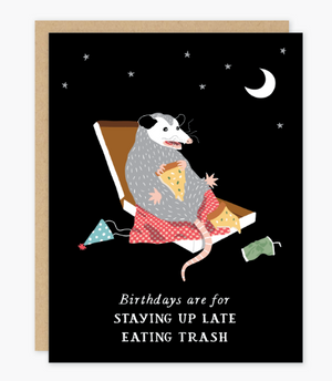 Birthday Possum Card by Party of One
