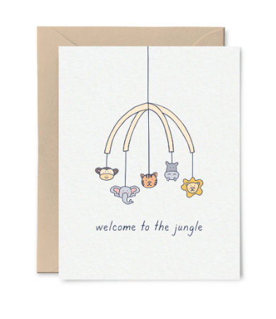Welcome to the Jungle Card by Little Goat Paper