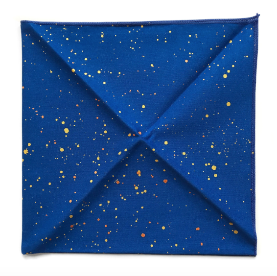 Galaxy Space Bandana Handpainted by Little Lark